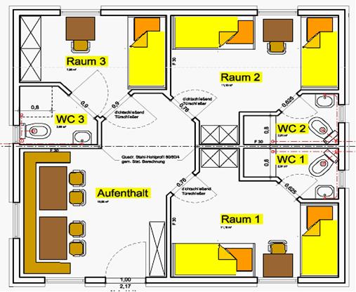 Skizze Schlafhütte (Beispiel)
